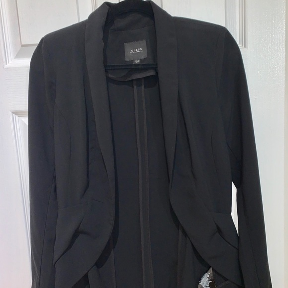 GUESS relaxed fit blazer with shoulder pads